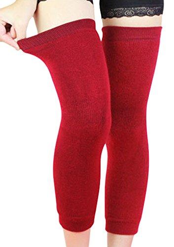 Scaldamuscoli per ginocchio da uomo e da donna, fascia elastica lunga per ginocchio, invernali, traspiranti, termici, leggings, protezione, sostegno, calze per sport, aria aperta, artrite, tendinite