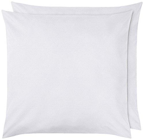 Amazon Basics Pillowcase, Blanc éclatant, 65 x 65 cm
