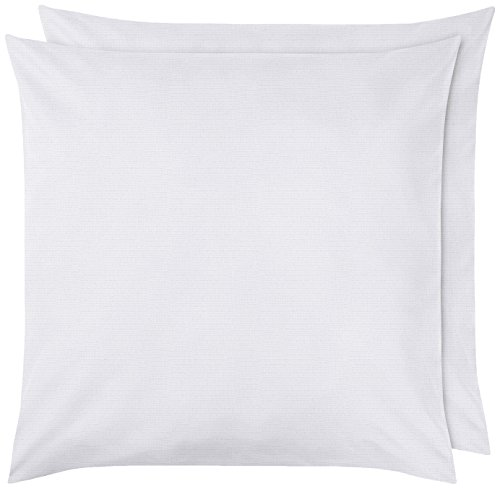 Amazon Basics Pillowcase, Blanc éclatant, 65 x 65 cm