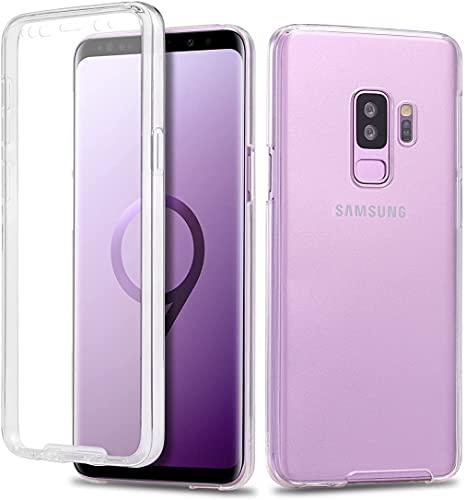 Le petit Français Coque pour Samsung S9 Plus avec protège écran Transparent Silicone TPU Case Intégral 360 Full Body Protection Coque Housse pour Avant arrière Galaxy S9+ plu s