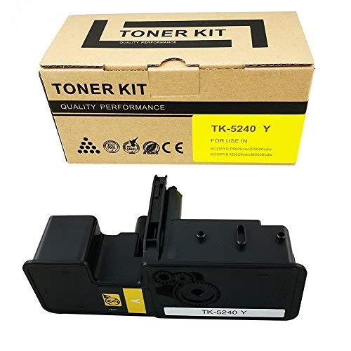 VICTORSTAR @ Cartuccia Toner Compatibile TK5240 / TK-5240 per Stampanti Laser Kyocera ECOSYS P5026cdn / P5026cdw / M5526cdn / M5526cdw (Yellow)