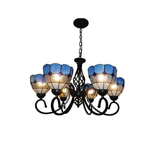 AYEN Tiffany Style Pendant Light Stained Glass - Lámpara para Comedor, salón, lámpara de Dormitorio