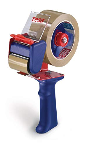 TESA 6300 Abroller für Klebeband Blau, Rot, Gummi (Metall, Gummi, 65x 220x 150mm, 5cm)