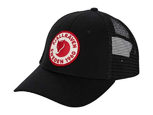 Fjällräven Unisex-Adult 1960 Logo Långtradarkeps Hat, Black, L/XL