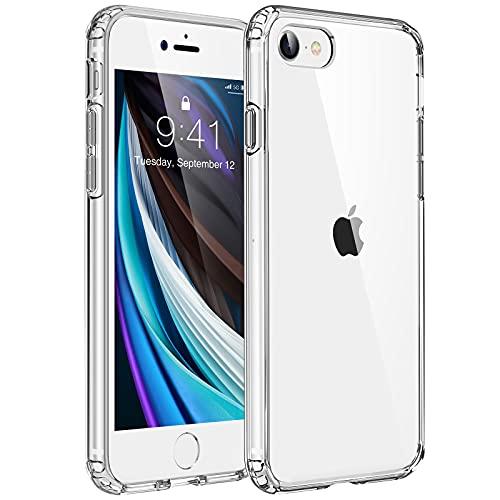YIWEVEN Cover per iPhone SE 2020, Cover per iPhone 8 7 - [Anti-Graffio, Non ingiallente] Custodia iPhone SE 2020 8 7, Soft TPU Bumper, Resistente Anti-Bolla Case di Copertura Rigida – Trasparente