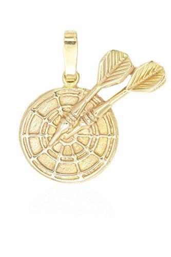 MyGold Dart del pendente (senza catena) Giallo Oro 333Oro Massiccio ca. Ø 20mm freccette bersaglio freccette bersaglio uomini gioielli da uomo sombreuil v0009219