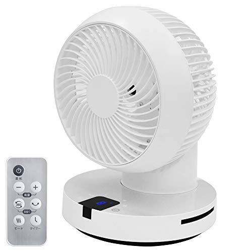 iimono117 サーキュレーター DCモーター 6畳~24畳 (ホワイト) 360度回転 自動首振り リモコン タイマー 付 静音 真上 送風機 扇風機 部屋干し 洗濯 浴室乾燥