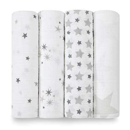 aden + anais Large Swaddles 4 Pack 100% Cotton Muslin twinkle (120x120cm)