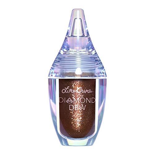 Lime Crime Diamond Dew Glitter Eyeshadow, Chocolate Diamond - Iridescent Bronze Lid Topper - Reflective Sparkle Shadow for Lids, Cheeks & Body - Won't Smudge or Crease - Vegan - 0.14 fl oz