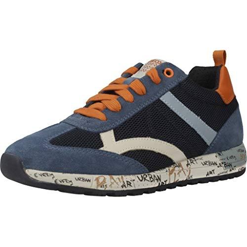 Geox Herren J ALBEN Boy A Sneaker, Blau (Navy/Dk Orange C4218), 36 EU
