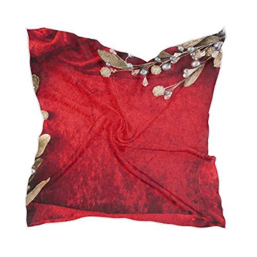 Hoofdbedekking Sheer Headkerchief Women Chiffon trouwkaart rode bloem zijden sjaal dun