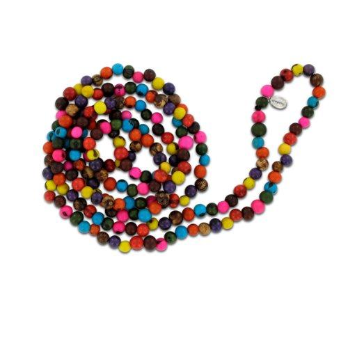 bonfim.de Lange Halskette aus Acai Samen, 150cm, in vielen Farben erhältlich, original Sambaia, Original aus Brasilien Amazonas, Natur Material!