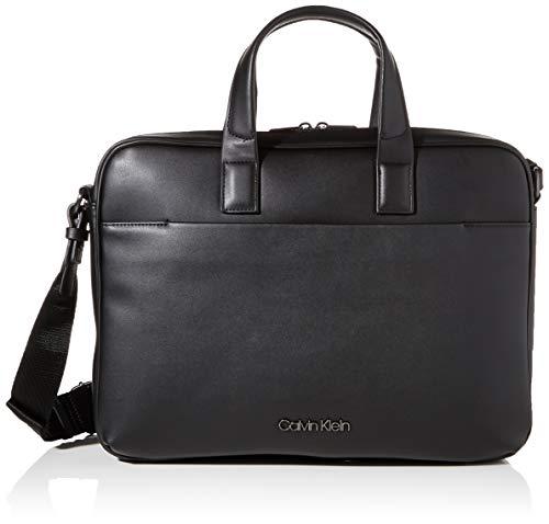 Calvin Klein Herren CK CENTRAL LAPTOP BAG Aktentaschen, Schwarz, OS