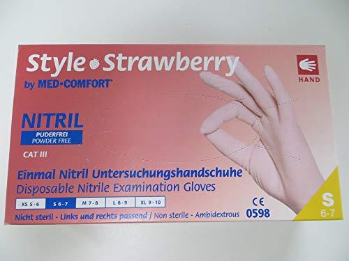 Med-Comfort Style Einmal Latex Untersuchungshandschuhe Pink, Gr. S