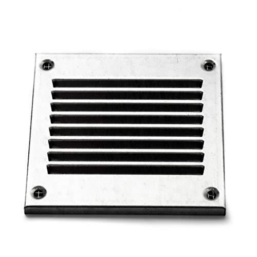 Vent Systems - Griglia di ritorno dell aria in metallo galvanizzato, per griglia di ritorno dell aria con parassiti integrato, copertura per bocchetta di ventilazione HVAC, 100 x 100 mm