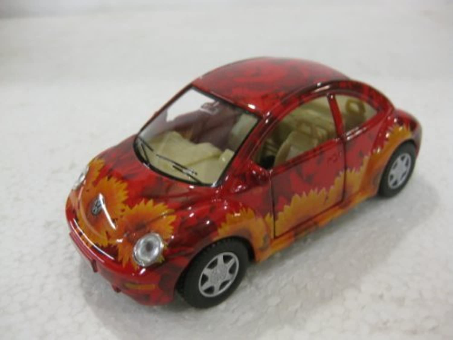 Volkswagon New Beetle In Flower Print Diecast 1 32 Scale By Kinsmart by diecast 1 32 scale