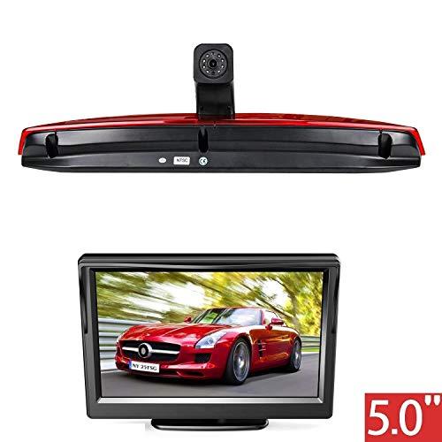 """HD 720p Dachkante Einparkhilfe Rückfahrkamera integriert in 3. Bremsleuchte Kamera für Mercedes-Benz Vito 114 LWB 2016-2017 Double Door+ 5.0\"""" Zoll DVD Monitor TFT Bildschirm LKW KFZ LCD Display"""
