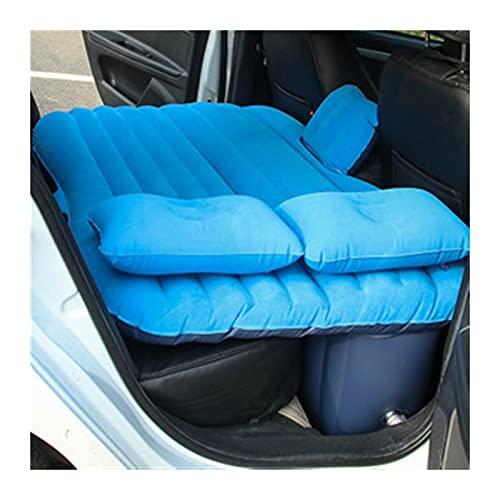 WYDMBH Sofa Hinchable Cama de Aire de Coches Conjunto Completo con Bomba de Aire y Almohada Al Aire Libre Camping Cojín Cojín Inflable Asiento Trasero Cama Colchón (Color Name : Blue)