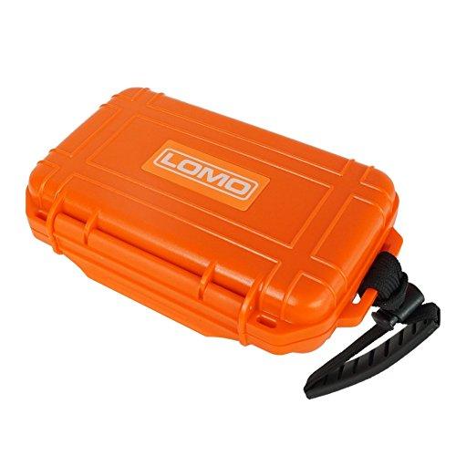 Lomo - Contenitore stagno piatto, colore: arancione, per kayak