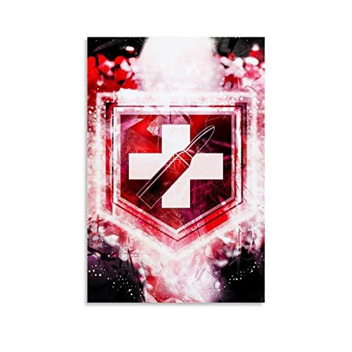 SSKJTC Poster für Zuhause, Wanddekoration, Call of Duty World Abstrakte Zombies Juggernog Perk, Büro, Wohnzimmer, Heimdekoration, 20 x 30 cm
