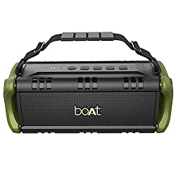 boAt Stone 1401 Portable Wireless Speaker with 30W Immersive Sound, Twin Equalizer Modes, Up to 7H Playtime, IPX5 Water and Splash Resistance, Multiple Connectivity Modes and TWS Feature (Army Green),boAt,Stone 1401