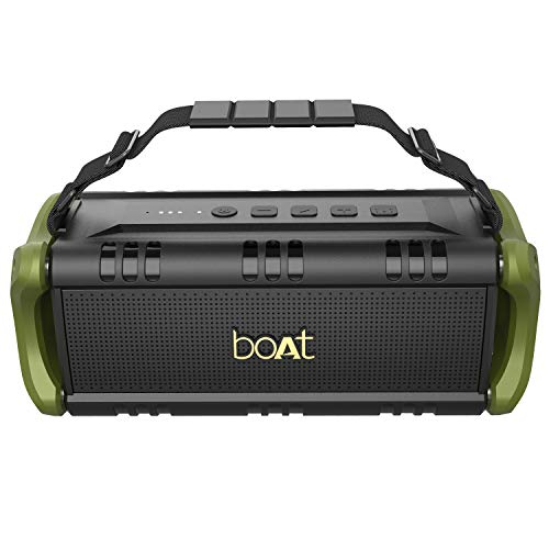 Boat Stone 1401 Bluetooth Speaker with 30W HD Audio, Up to 7H Playtime, Type-C Charging, Multiple Connectivity Modes, TWS Feature, IPX5 Water & Splash Resistance and Carry Strap (Army Green)