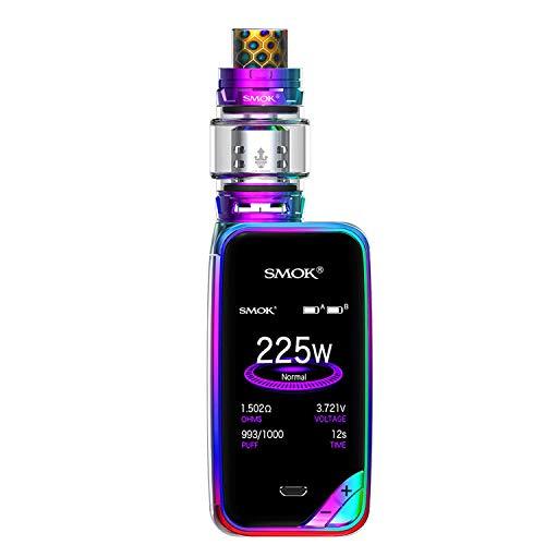 SMOK X PRIV Kit 225W TFV12 Prince 8mL Tank E Cigarette Starter Kit - sin nicotina - sin aceite (Prism Rainbow)
