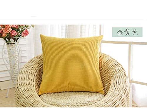 LEIXNDPLBO 2 Stuks Zachte Soild Decoratieve Vierkante Sierkussenhoezen Mooie Korrel Set Kussen Kussensloop voor Sofa Slaapkamer, geel, 30x50cm 2 stuks