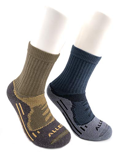 ALLES MOOI MOHAIR Socks for Hiking, Trekking, 72prozent Natural Content, Blister-Resist, Mid-Weight, Crew, OLIVE, VENTUS model