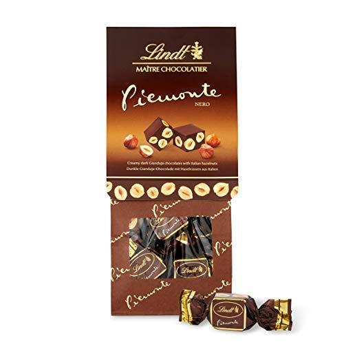 Lindt Piemonte Edelbitter, Dunkle Gianduja Schokolade mit Haselnüssen, 2er Pack (2 x 200 g)