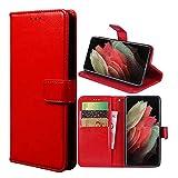 Hülle für Xiaomi Redmi Note 8 2021/Note 8 Schutzhülle lederhülle Leder Handy Hüllen, Flip Hülle Handytasche Tasche Handyhülle für Xiaomi Redmi Note 8 2021/Note 8, Rot