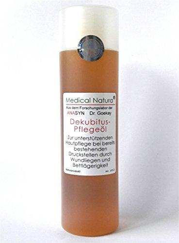 200ml Dekubitus - Pflegeöl (Anti-Dekubitus-Hautöl), Zur unterstützenden Hautpflege bei bereits bestehenden Druckstellen und leichten Wunden durch Wundliegen und Bettlägerigkeit in der Altenpflege und Krankenpflege. Naturprodukt.