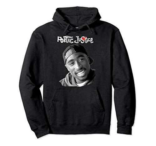 Poetic Justice Tupac Smiling Portrait Pullover Hoodie