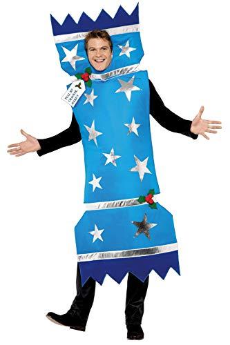 Smiffys Costume Christmas Cracker (pétards de Noël), Bleu, avec tunique