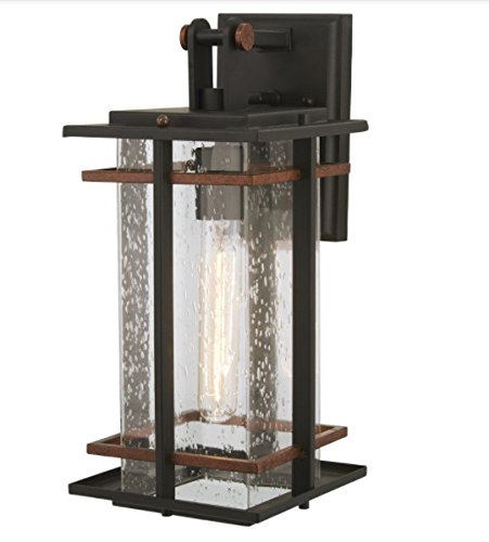 Minka Lavery Outdoor Wall Light 72492-68 San Marcos Exterior Wall Lantern, 1-Light 60 Watts, Black