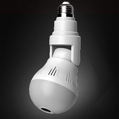 Cámara de Bombilla Oculta Inalámbrica VR 360 Panorámica WiFi Bombilla Cámara IP Cámara de Interior Sistema de Vigilancia con Visión Nocturna Size,960P + tf128G