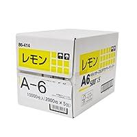 【断裁加工品】大王製紙 ダイオーマルチカラーペーパー(色付きコピー用紙) A6サイズ 10000枚 レモン