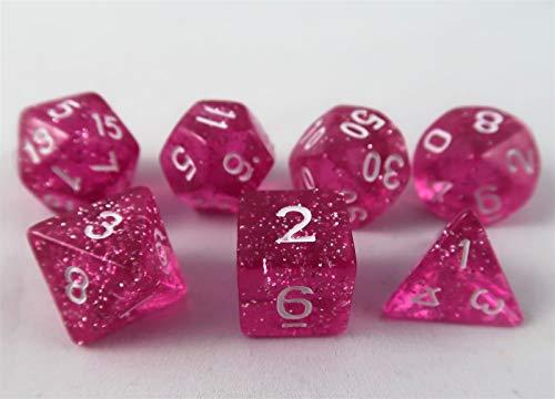 Würfel Stube Glitzer pink Set