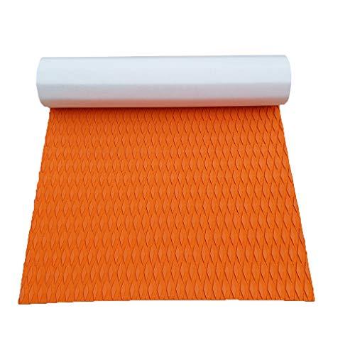 HomeDecTime Boot Teak Deck Pad selbstklebend Bodenbelag 5mm rutschfest Belag Bodenschutzmatten Unterlegmatte - Orange