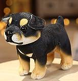 Juguete de Peluche para Perro Rottweiler, muñecos de Animales de Peluche Suaves de Dibujos Animados, Almohada de Anime Relajante, Regalos de cumpleaños de Navidad de Halloween para niños de 18 cm