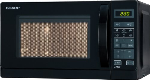 Sharp R642BKW 2-in-1 Mikrowelle mit Grill / 20 L /...