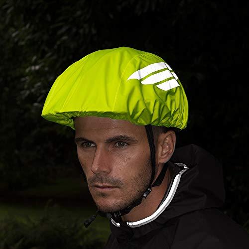 Proviz Classic Hi Viz Reflective Waterproof Cycling Helmet Cover - Yellow