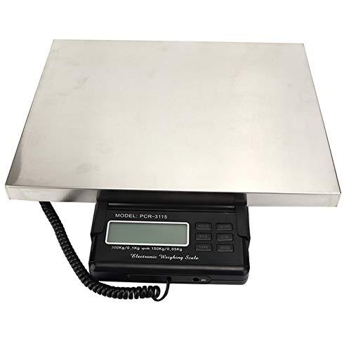 Bilancia postale per spedizione digitale da 300 kg Heavy Duty 660 Lbx0.1 Lb Bilancia per pacchi in acciaio inossidabile con...