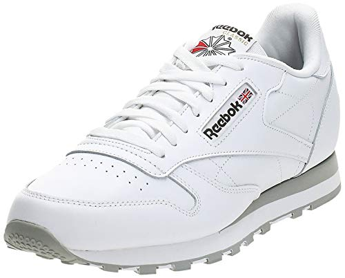 Reebok Classic Lthr 2214, Zapatillas de Trail Running Hombre, Blanco (Intense White/Light Grey), 44 EU