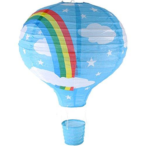 Rainbow Heißluftballon Deckenleuchte, Papier Laterne Lampe), Blau