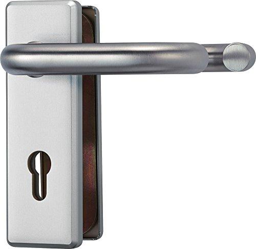 ABUS Tür-Schutzbeschlag KKT512 F1 aluminium für Feuerschutztüren mit beidseitigem Drücker 24918