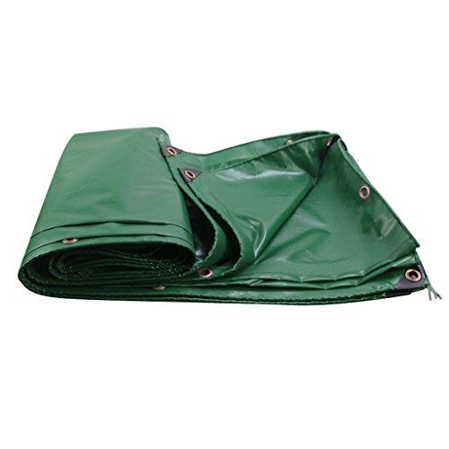 ZZYE Lona Tarpa Cubierta Verde Tiendas Solar Protector Solar Sombrilla de la solpasia en Poncho Familia Camping Jardín al Aire Libre, Grosor 0.4mm, 500 g / m2 Lona Impermeable (Size : 4X6)