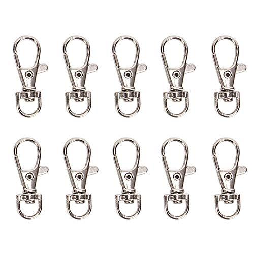 Rotierender Hummer-Schlüsselbund aus versilbertem Metall Geteilter Schlüsselbund