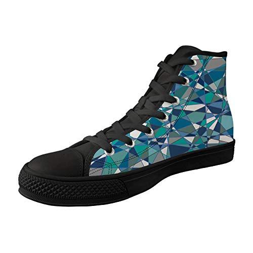 MODEGA bunten Druck hohe Schuhe für Jungen bunten Druck hohe Spitzenschuhe für Männer Sportschuhe Frauen Bunte Druck Schuhe F