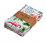 Urban Villa Kitchen Towels,Flamingo Print Multi Color, Premium Quality,100% Cotton Dish Towels,Mitered Corners,(Size: 20X30 Inch), Highly Absorbent Bar Towels & Tea Towels - (Set of 6)
